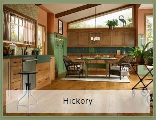 Hickory engineered wood floor